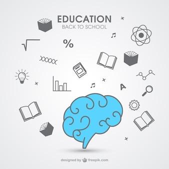 Icone di istruzione disegnate a mano