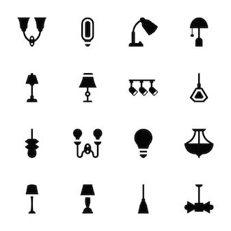 Icone di lampade e luci da parete