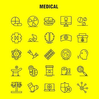 Icone di linea medica