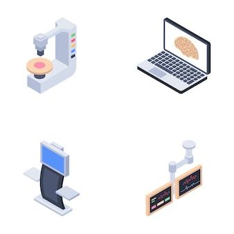 Icone di macchine diagnostiche