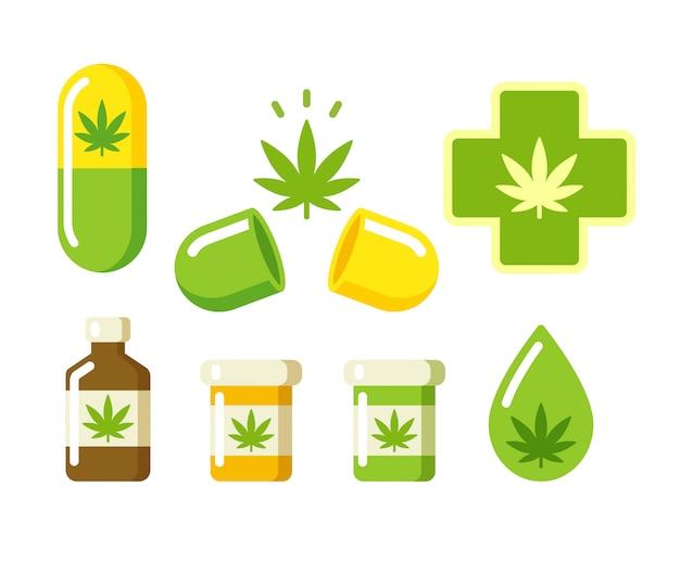 Icone di marijuana medica