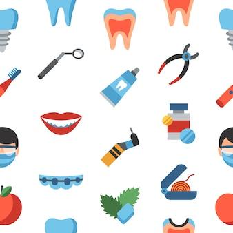 Icone di odontoiatria e assistenza sanitaria