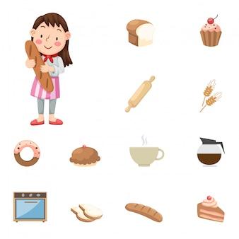 Icone di panettiere