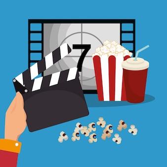 Icone di produzione cinematografica batacchio