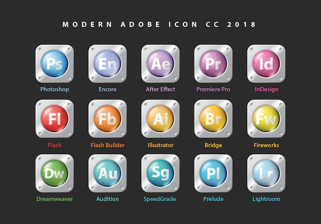 Icone di raccolta adobe