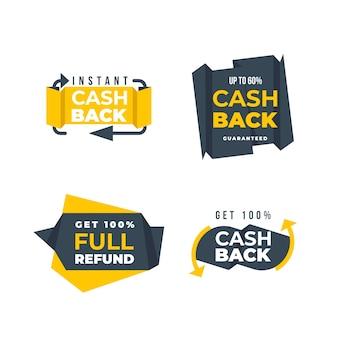 Icone di risparmio e rimborso del denaro
