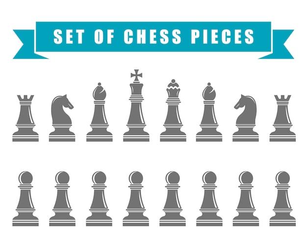Icone di scacchi. illustrazione.