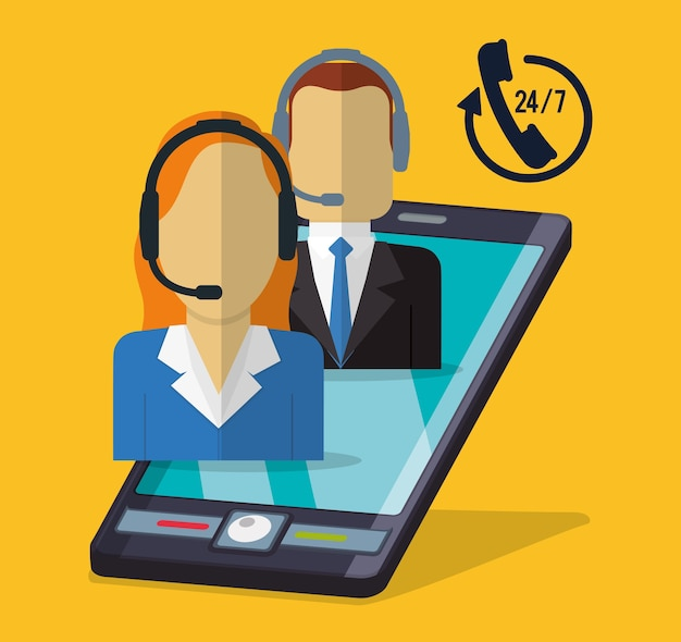 Icone di servizio di assistenza clienti