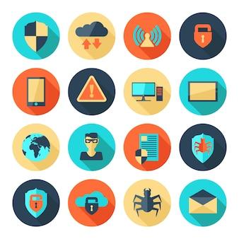 Icone di sicurezza di rete