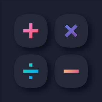 Icone di simboli matematici