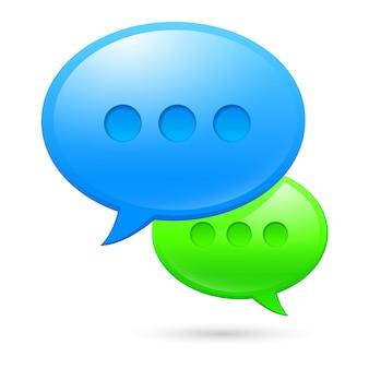 Icone di sms su bianco