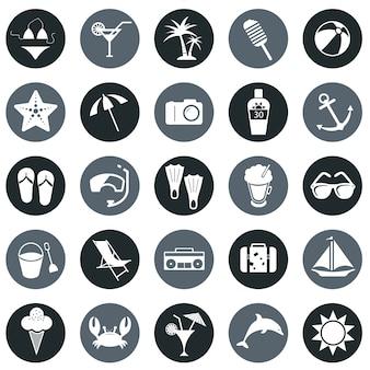 Icone di spiaggia