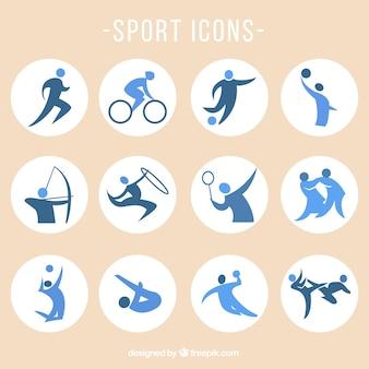 Icone di sport insieme vettoriale