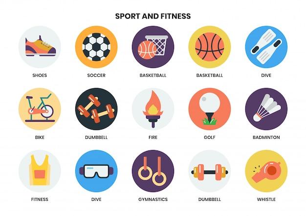 Icone di sport messe per affari
