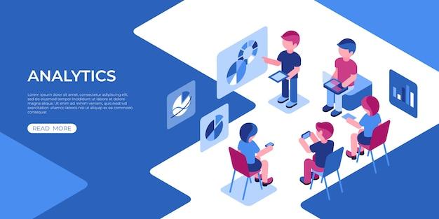 Icone di tecnologia di analisi dei dati di realtà virtuale con le persone