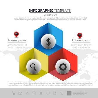 Icone di timeline di grafica di informazioni scenografia