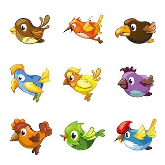 Icone di uccelli divertenti