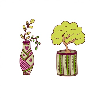 Icone di vettore houseplant