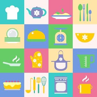 Icone differenti da cucina