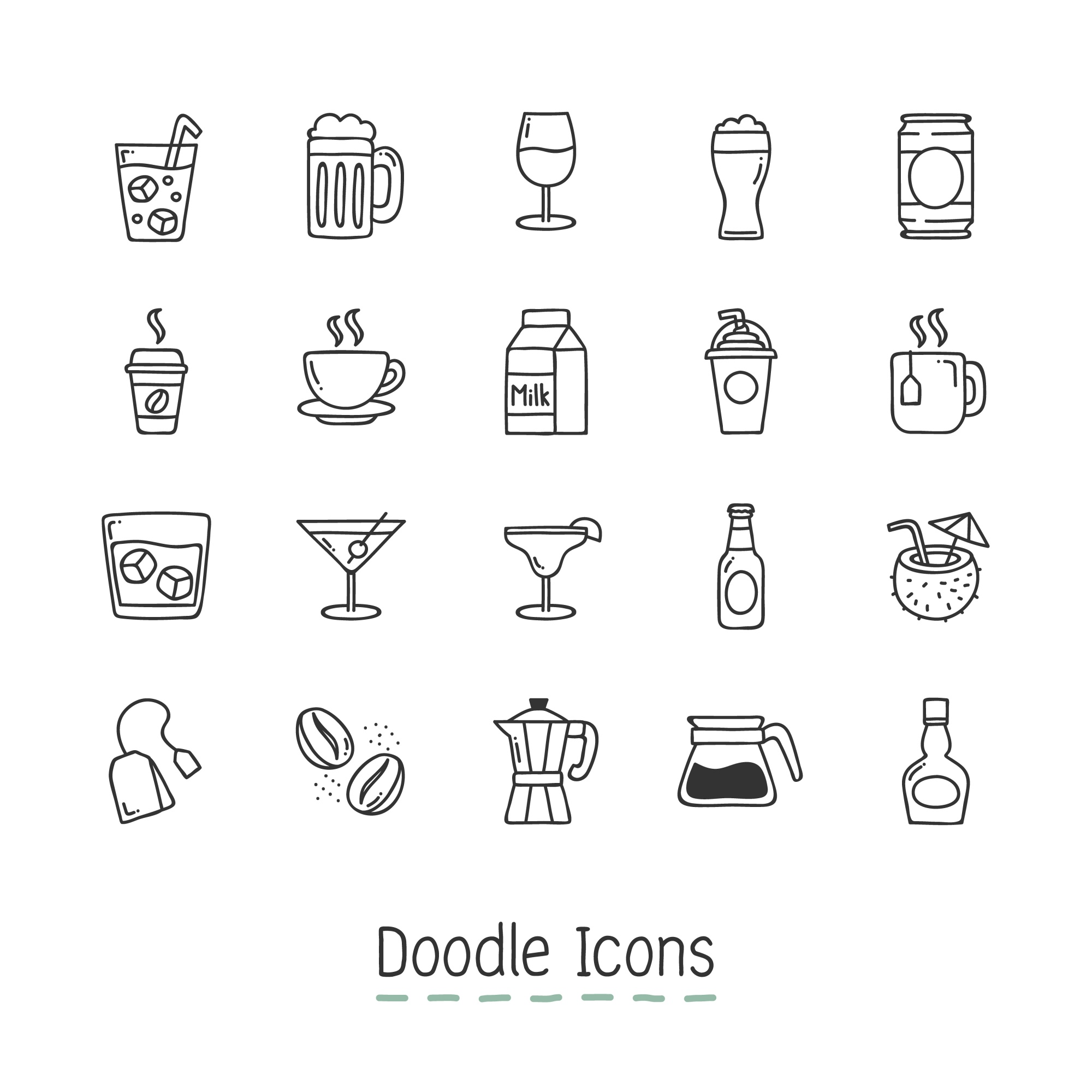 Icone Doodle Drink.