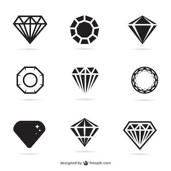 Icone gioielli piane