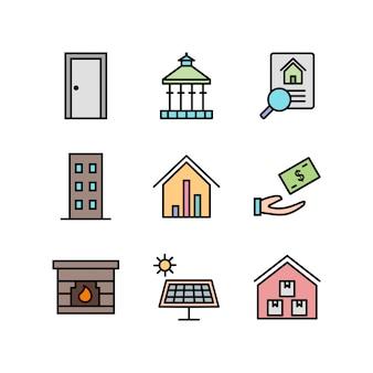 Icone immobiliari per uso personale e commerciale