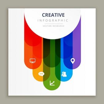 Icone infographic design creativo