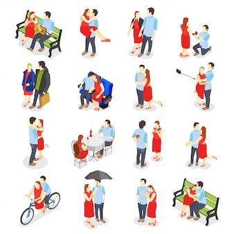 Icone isometriche di incontri