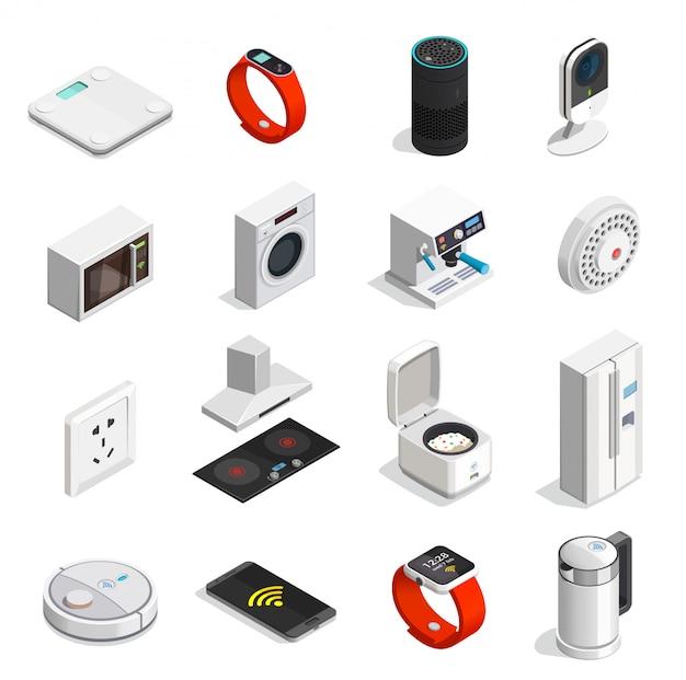 Icone isometriche di internet delle cose