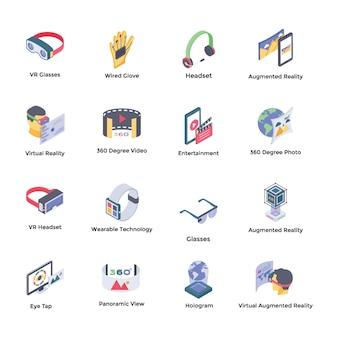 Icone isometriche di realtà virtuale