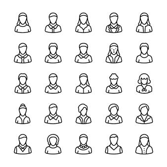 Icone linea avatar