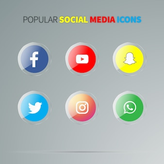 Icone lucide di media sociali
