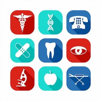 Icone mediche impostate
