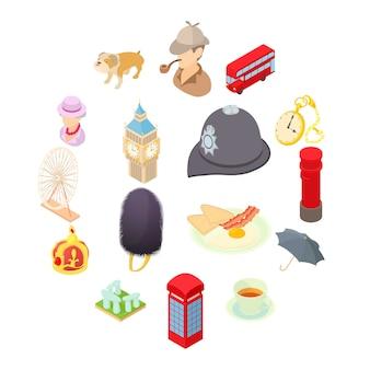Icone messe nello stile del fumetto. impostare l'illustrazione della raccolta