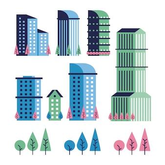 Icone minime di scena della città