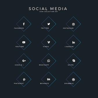 Icone moderne social media