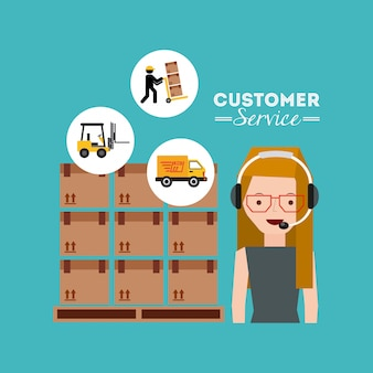 Icone piane del servizio clienti