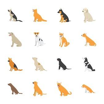 Icone piane di cani