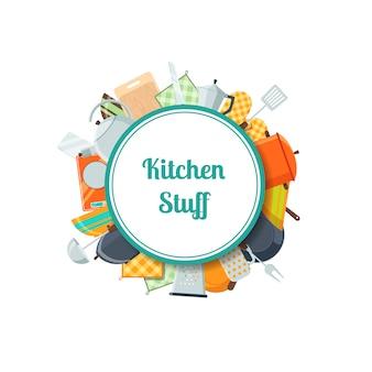 Icone piane di utensili da cucina