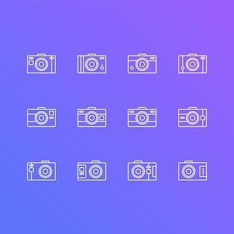 Icone piatte della fotocamera