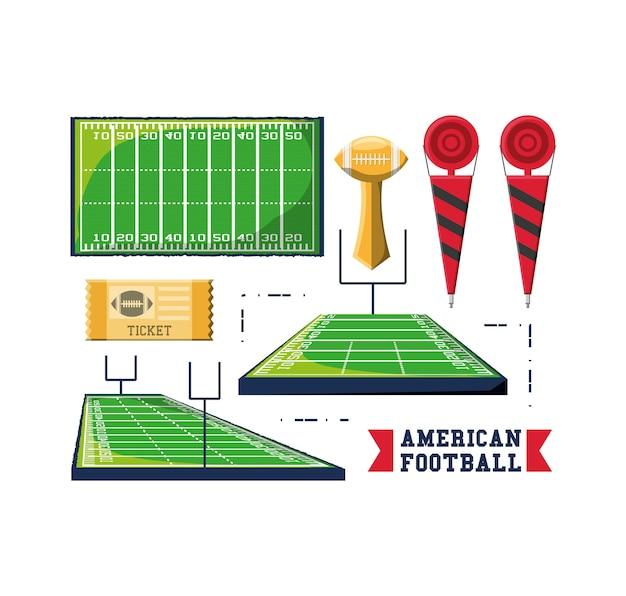 Icone relative al football americano