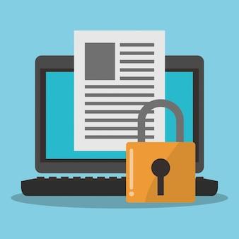 Icone relative alla sicurezza di internet