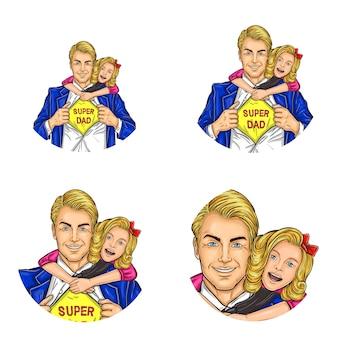 Icone rotonde di avatar per utenti di social network
