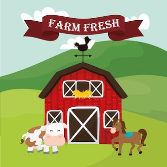 Icone rurali e fattoria