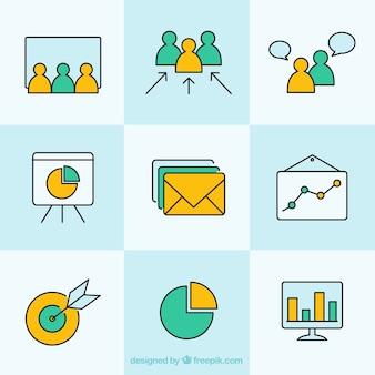 Icone semplici per le imprese