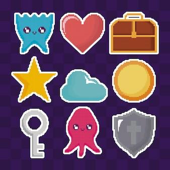 Icone stabilite del videogioco classico