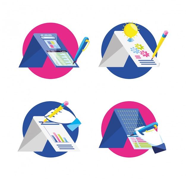 Icone stabilite di ottimizzazione del motore di ricerca