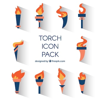 Icone torch pacco