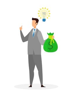 Idea creativa di affari piatta