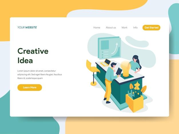 Idea creativa per la pagina del sito